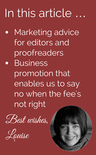 Marketing advice for editors and proofreaders