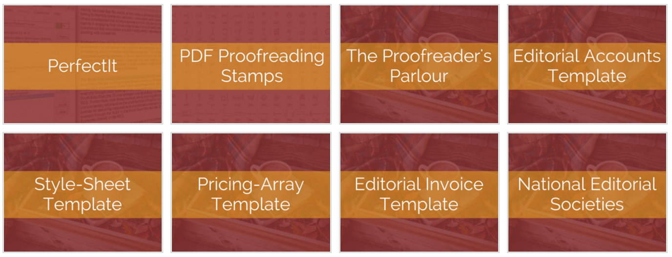 Tools and resources for editors and proofreaders