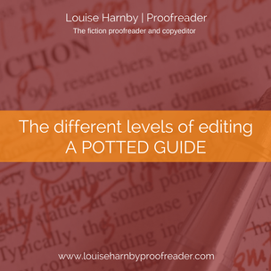 The different levels of editing. A potted guide