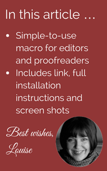 Macro for editors and proofreaders