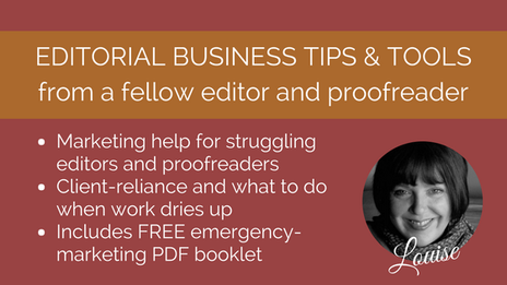Emergency marketing for editors and proofreaders
