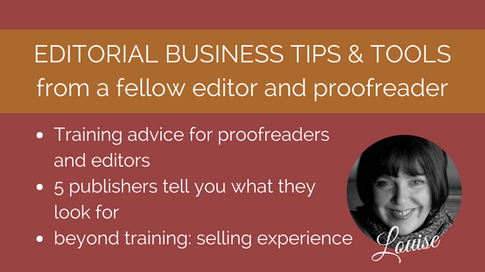 Training guidance for proofreaders