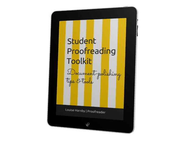Student Proofreading Toolkit