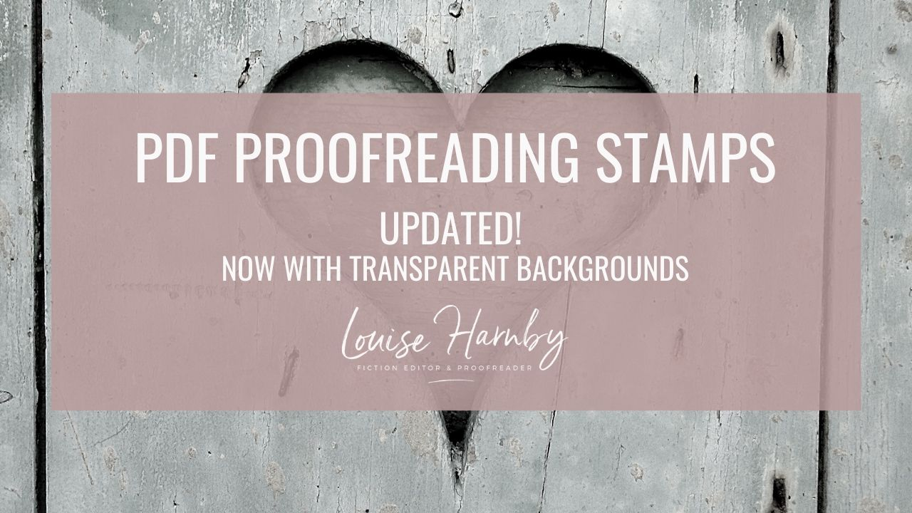 The Editing Blog Louise Harnby Fiction Editor Proofreader