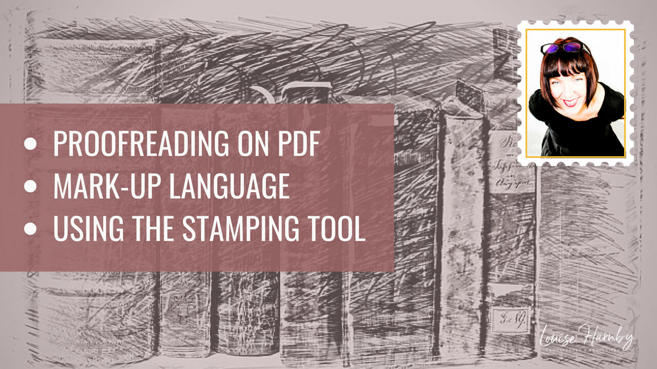 Using the stamping tool for PDF proofreading mark-up