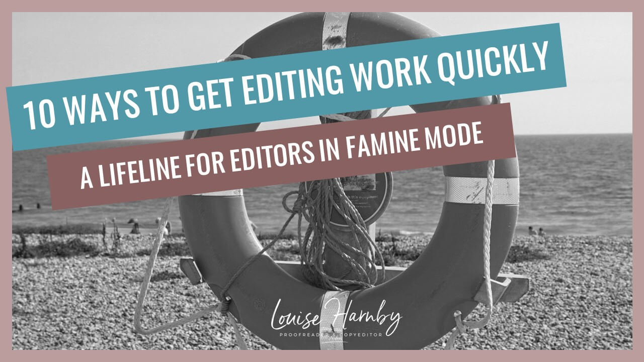 How to get editing work quickly
