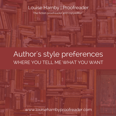 Louise Harnby Author's Style Preferences