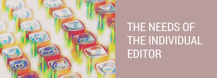 Cost of editing: the individual editor