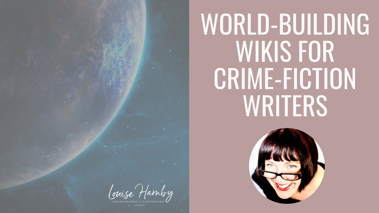 World-building wikis for crime writers