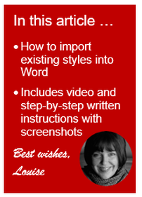 How to import styles into Word