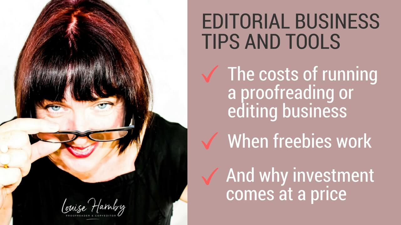 The costs of building an editing and proofreading business