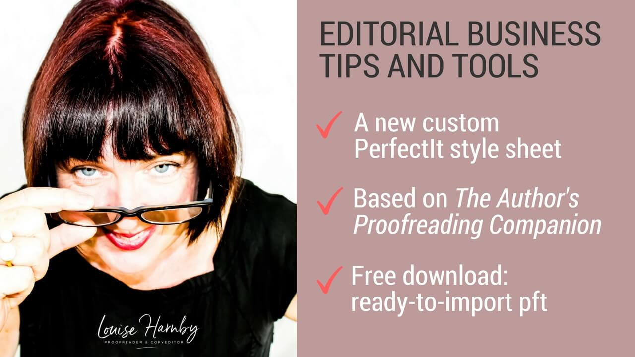 PerfectIt style sheet for The Author's Proofreading Companion