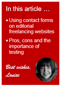 Contact forms on editors' and proofreaders' websites