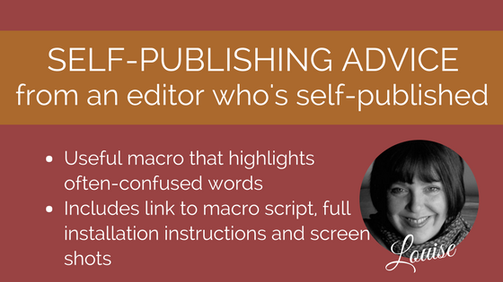 Macro for writers, editors and proofreaders