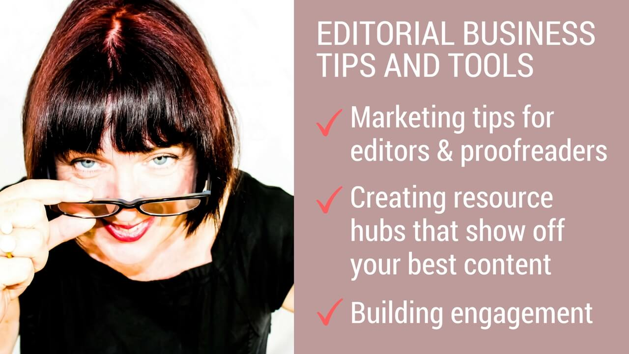 Content hubs for editors and proofreaders