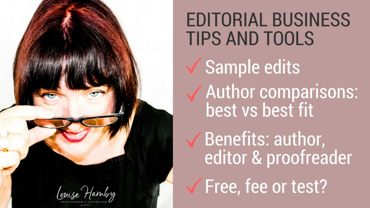 Sample edits: Free, fee or test?