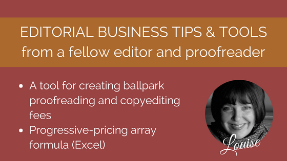 Pricing array formula for proofreaders