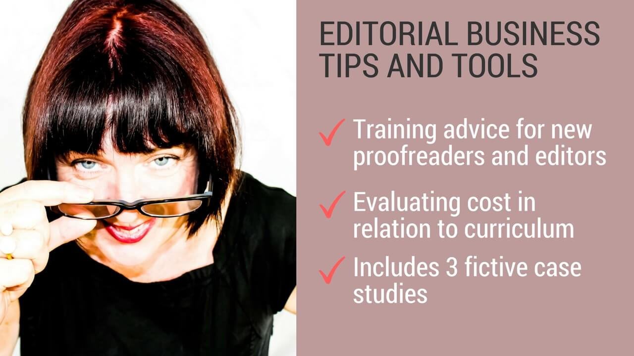 Training advice for editors and proofreaders