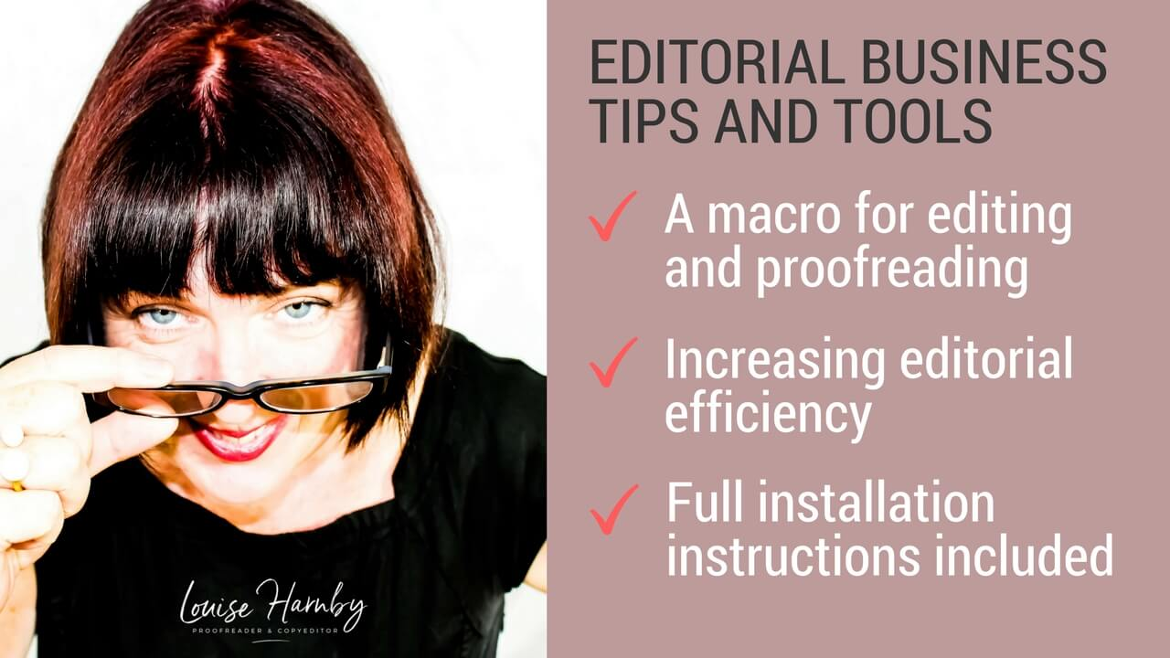 Proofreading and editing macro