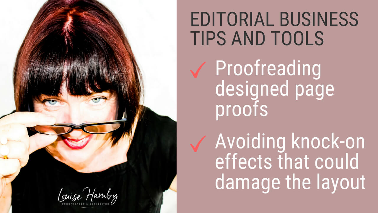 Proofreading, page proofs, and knock-on effects